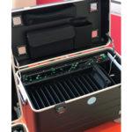 valise tablettes avec câbles led