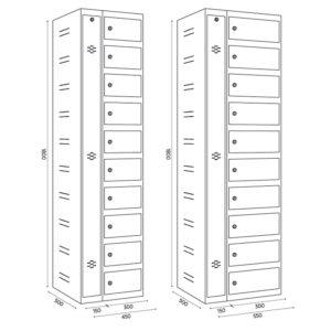armoire pour stocker et charger jusqu'à 10 tablettes ou portables