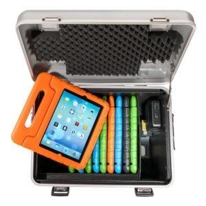 valise avec étuis en mousse et poignée pour enfant