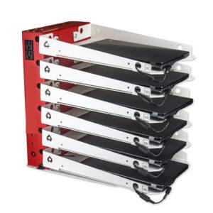 rack pour stocker et charger 6 notebook