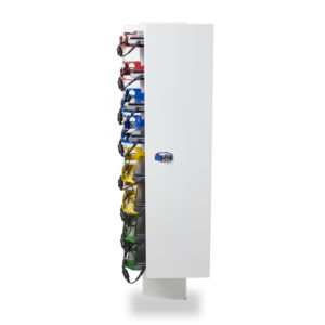 tour murale pour stocker et charger des portables